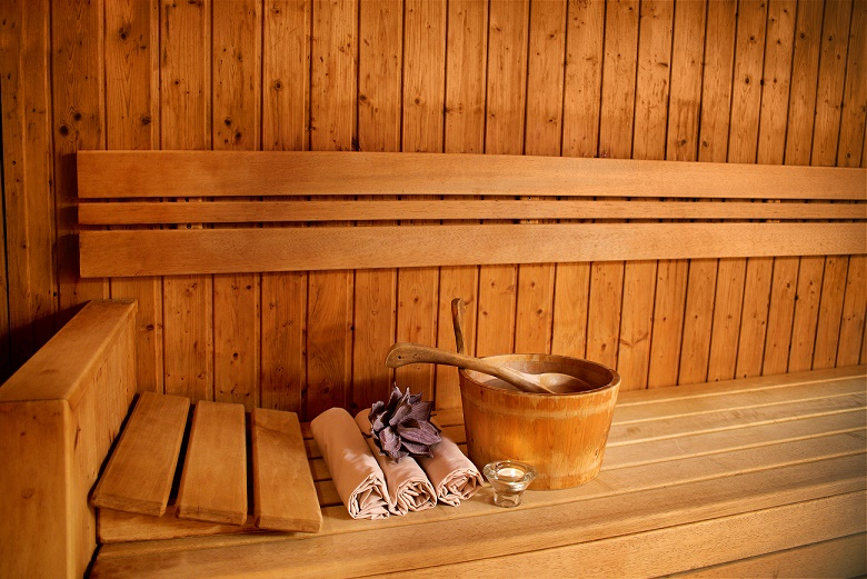 Image result for sweating to detox sauna images