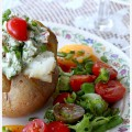 Baked-potato-with-fresh-herbs-and-chevre