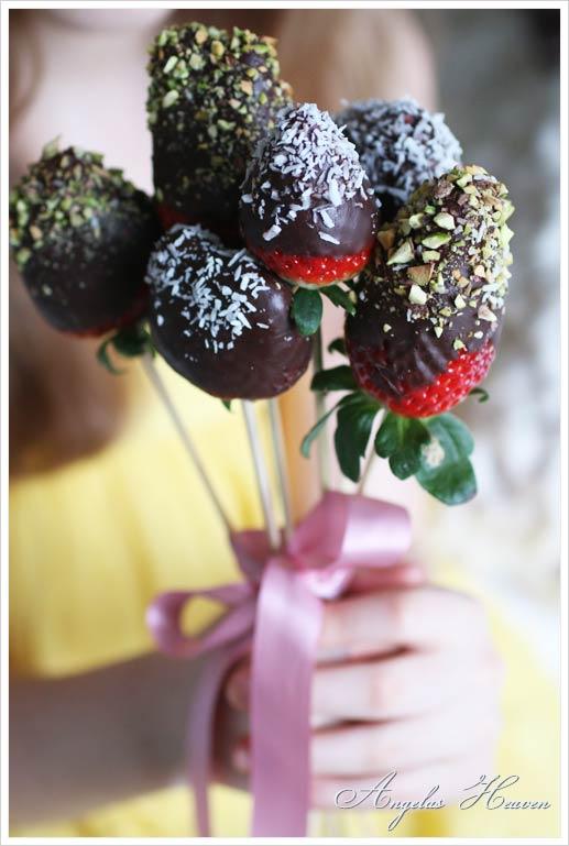 Strawberries-on-a-stick