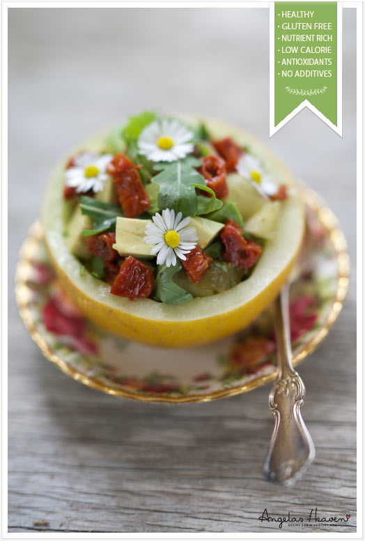 Simple, Healthy Lunch In A Melon Bowl
